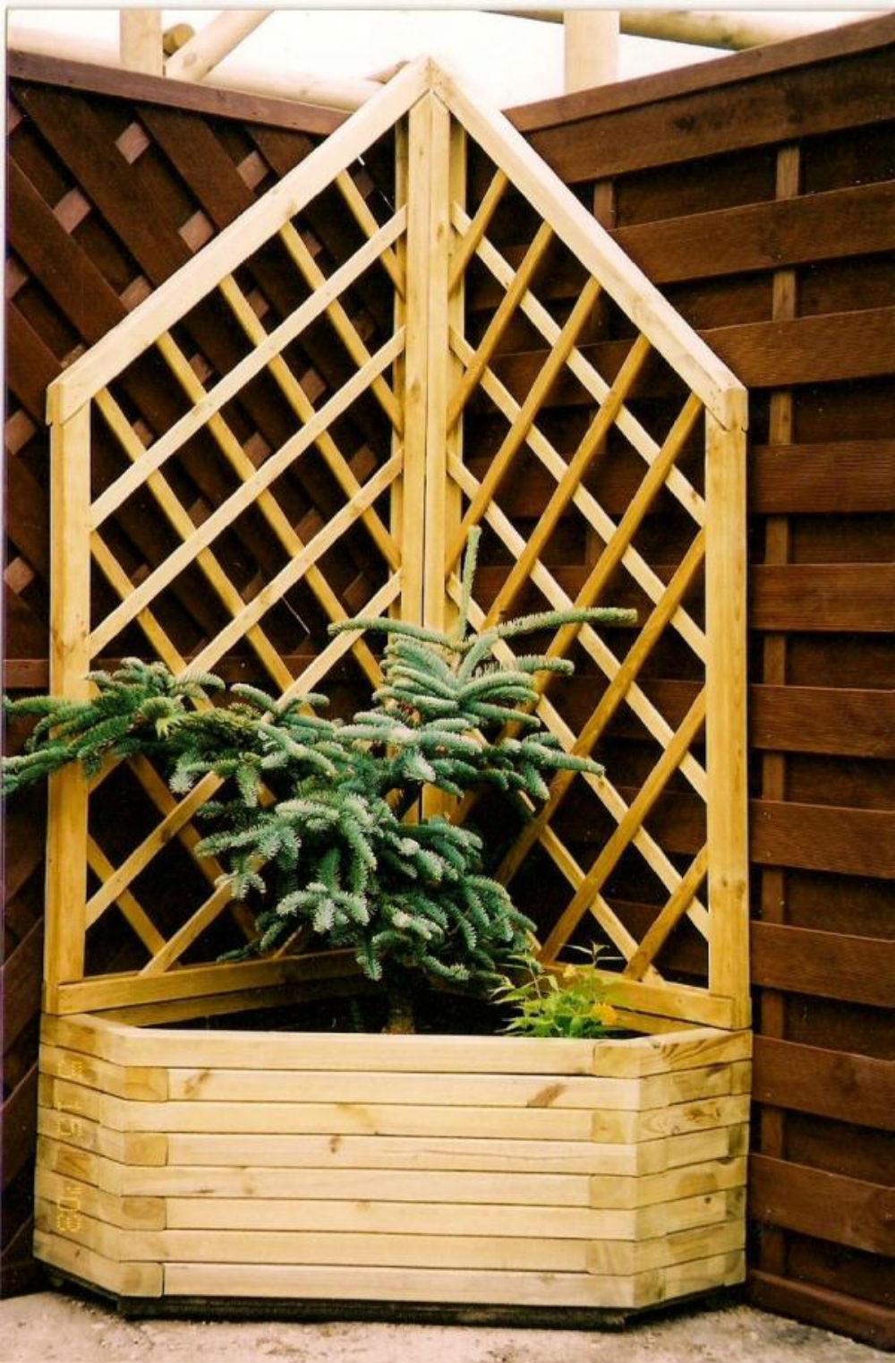 Donice Drewniane Urządzamy Kwietnik Na Tarasie Fajny Dom