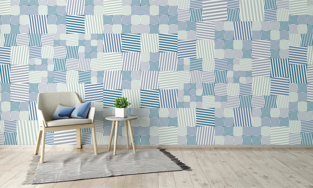 WALLPAPER_SQUARE_STRIPES #WGM25300201 SCENA